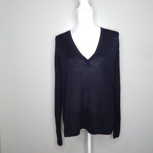 everlane women black wool sweater SZ M
